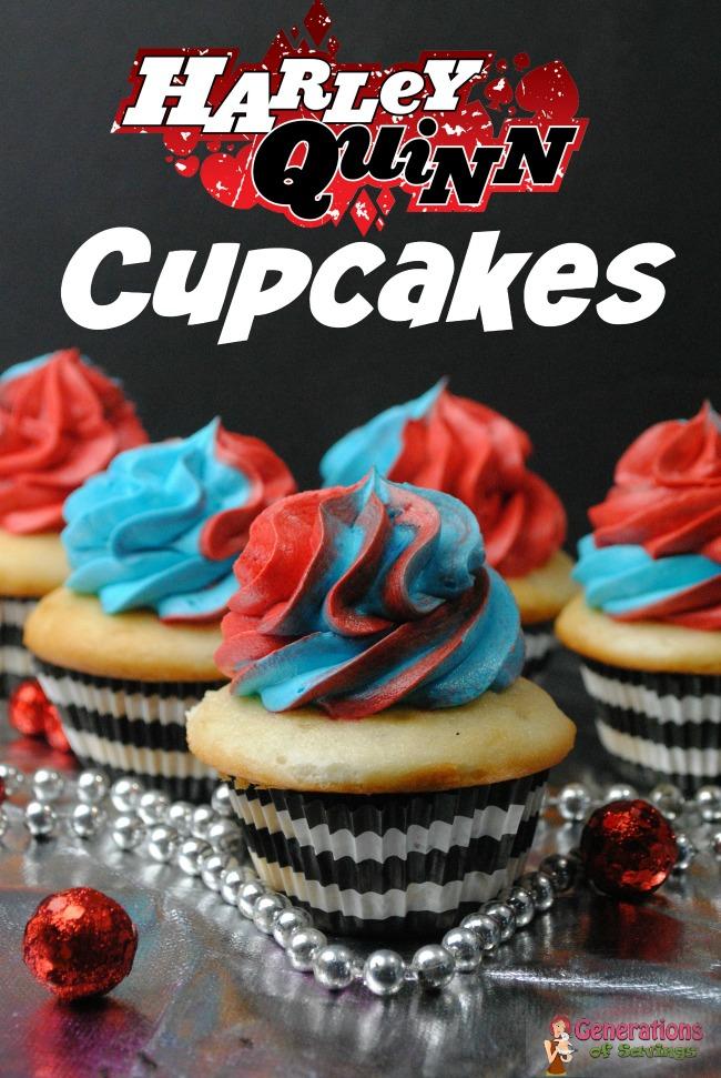 harley quinn, suicide squad, cupcake recipe, Suicide Squad Inspired Recipe